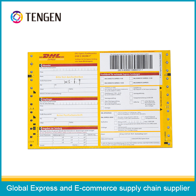 Self-Adhesive Shipping Air Waybill with Multi Colors Printing