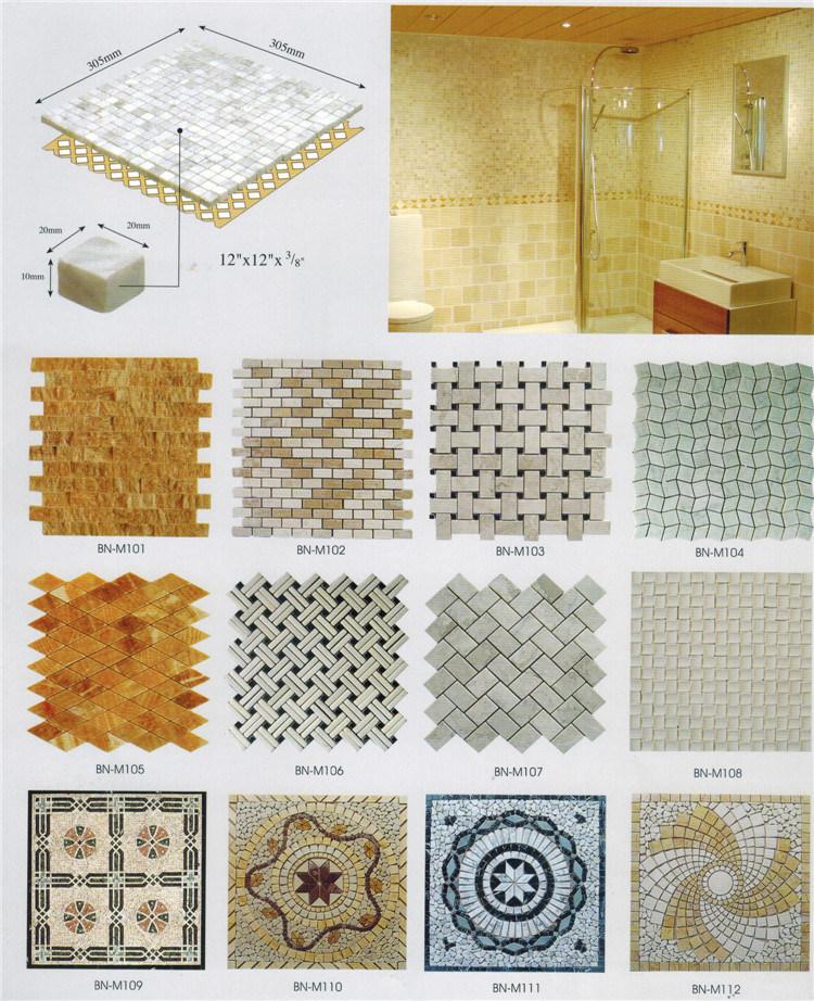 Pebble Stone Tile Natural Stone Mosaic Marble Mosaic Tile