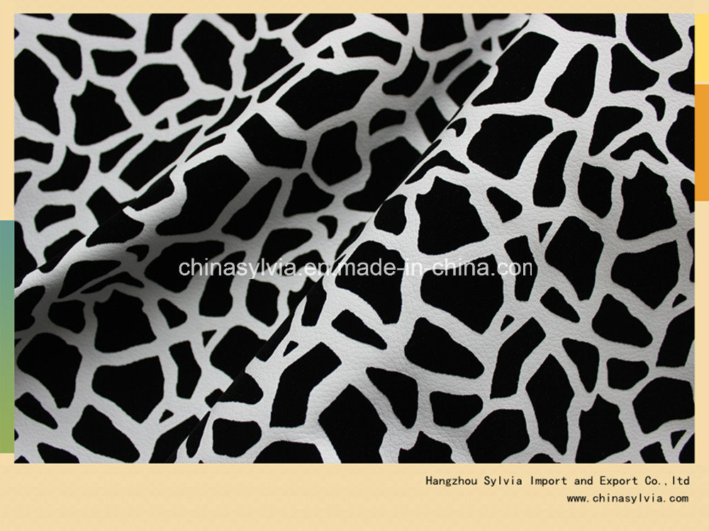 Synthetic Leather Flocked with Natural Leather on Surface