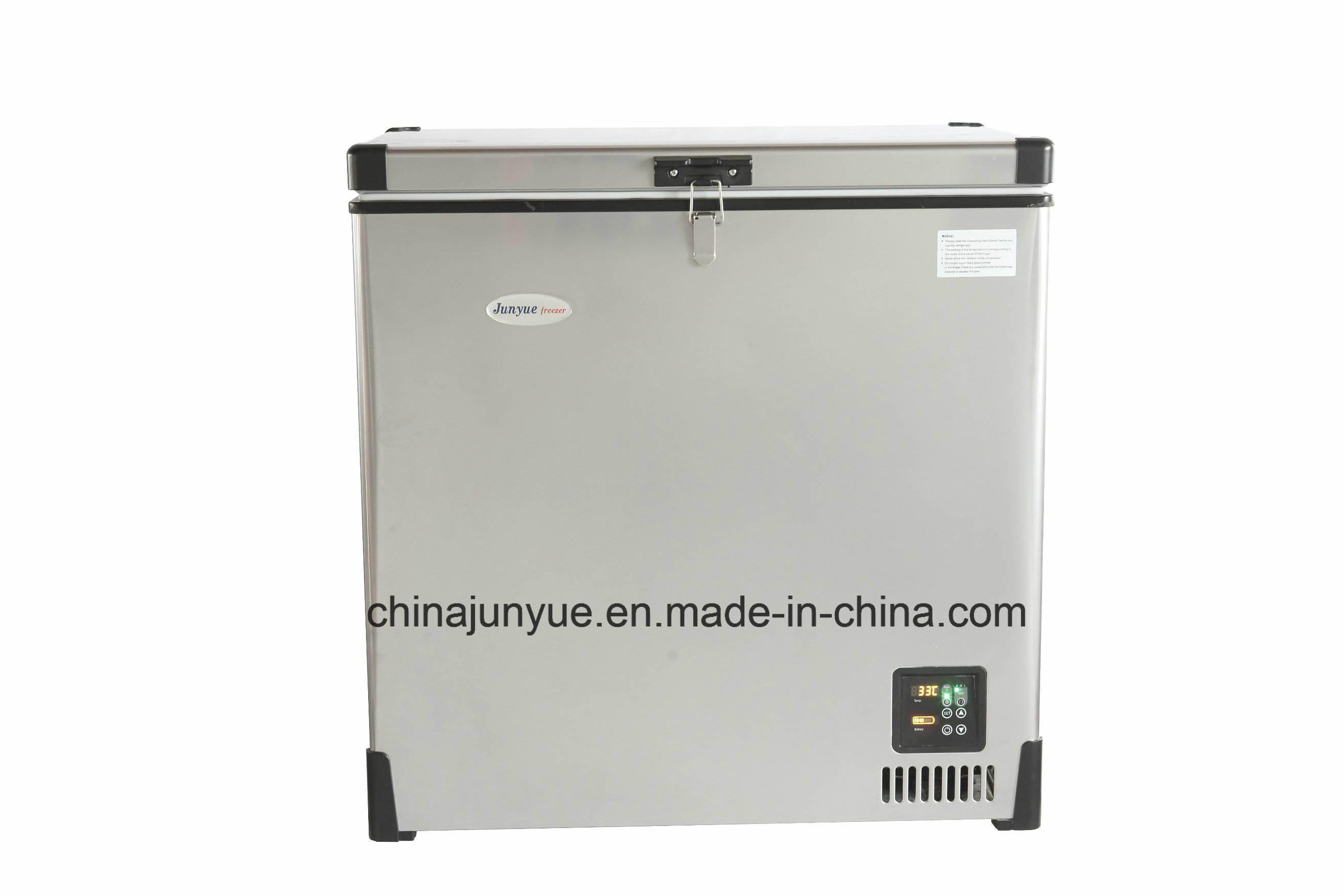 12V 24V Mobile Stainless Steel Chest Refrigerator Mobile Solar Freezer Camping Fridge Portable Fridge Bd/Bc-138L
