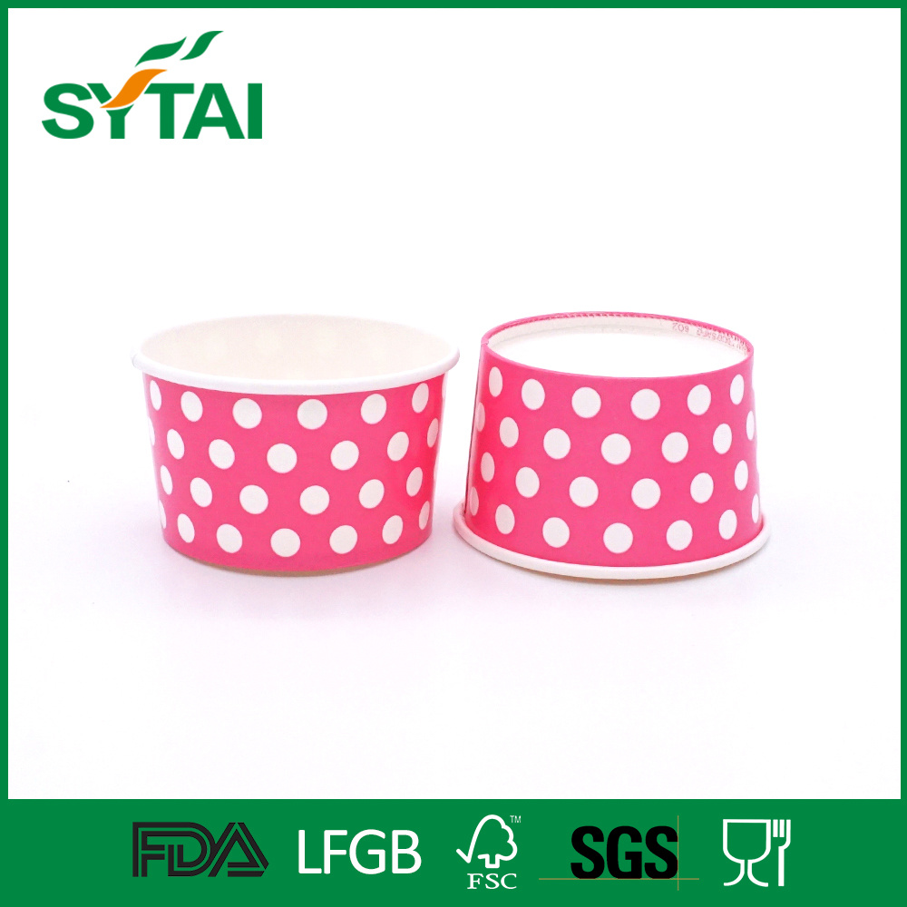 Custom Design Double PE Coated Disposable 5oz Ice Cream Paper Cups