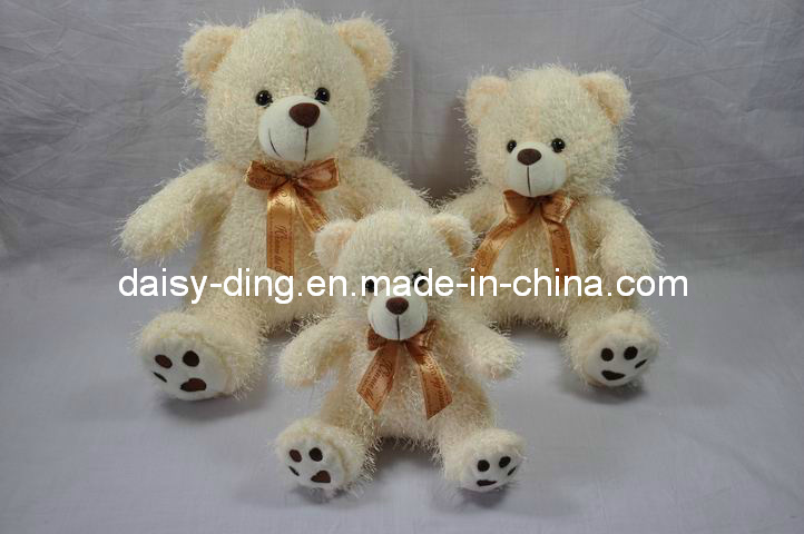 Dark Brown Sitting Teddy Bears with Bowtie (skin is avaliable)