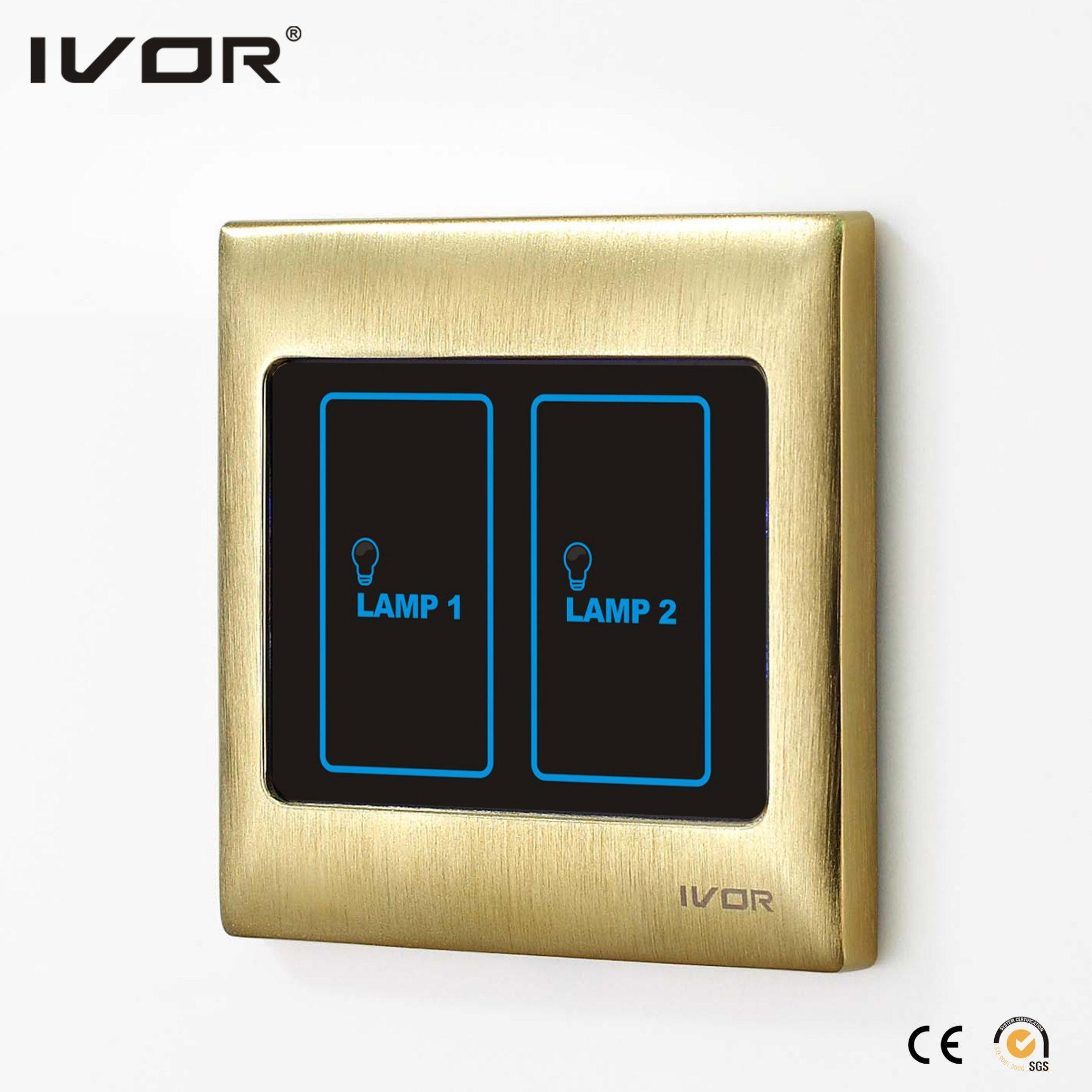 Ivor Smart Home Touch Screen Light Switch Wall Switch with Master Control / Remote Control