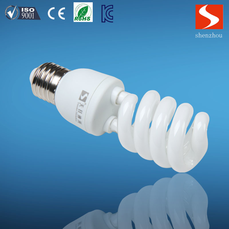 Half Spiral T3 26W Energy Saving Lamp, CFL Bulbs, E26/E12