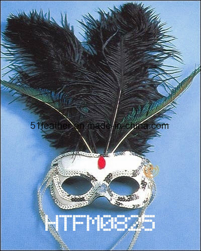 Muliti-Color Personal Decoration Party Turkey/Ostrich Feather Mask