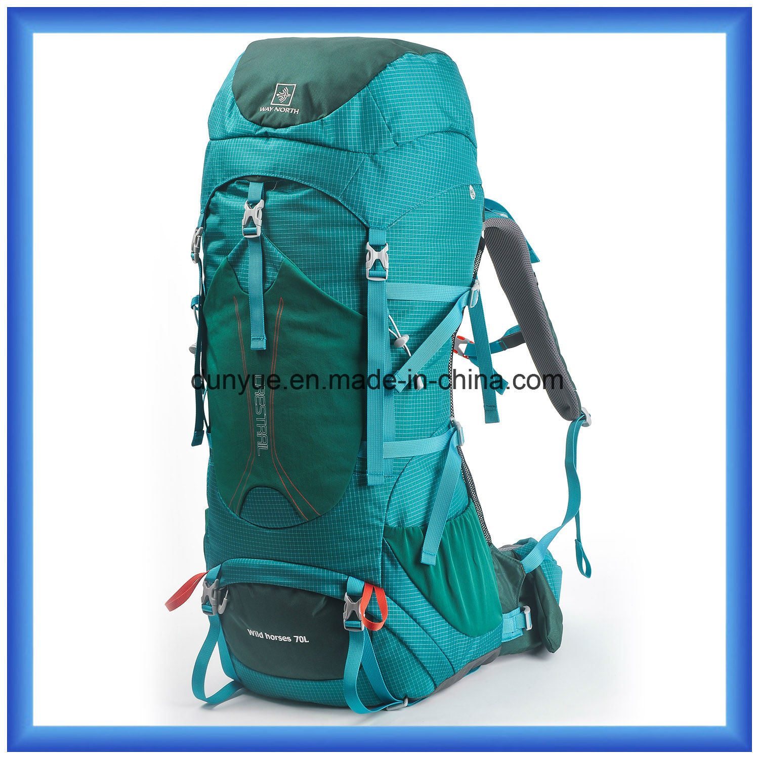 Large Capacity 70L Practical Mountaineering Backpack Bag, Outdoor Hiking Backpack, Multi-Functional Custom Climbing Camping Backpack