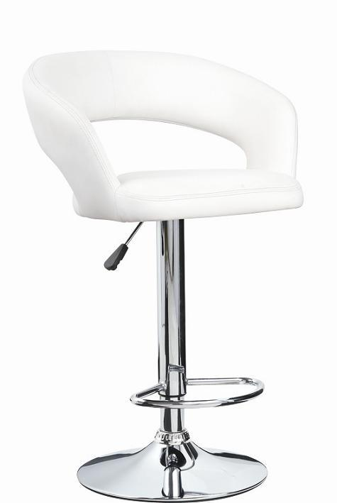 White Leather Round Stool China Bar Stool Kitchen Stool