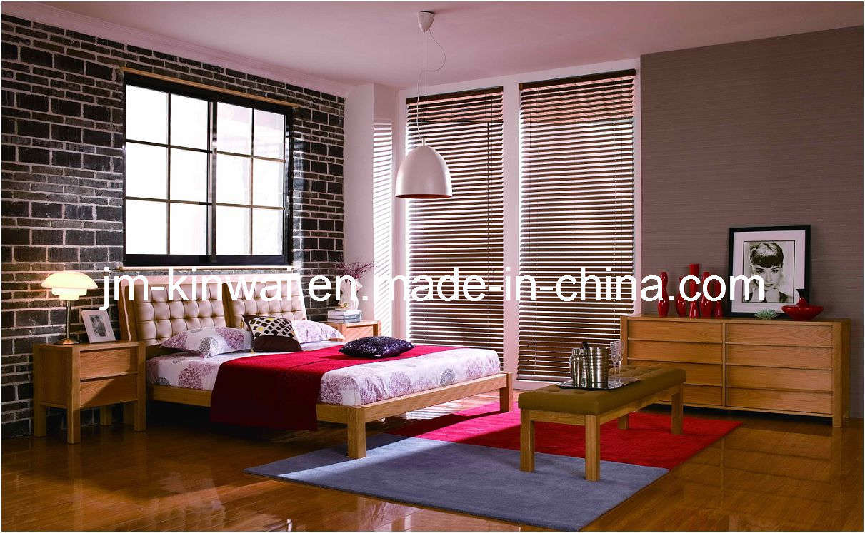 China natural oak bed bedroom set furniture