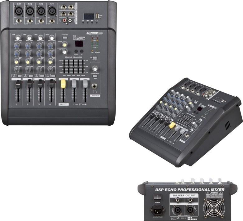 Hot -Sale Professional Power Mixer 4 Channels 150wx2 Mx-402D