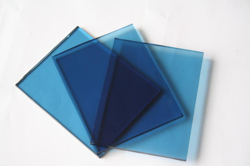 China Tinted Glass Sheet Glass Blue Colored China Colored Glass Sheets