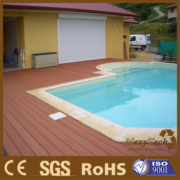 Swimming Pool Water Proof WPC Decking Floor Foshan Supplier