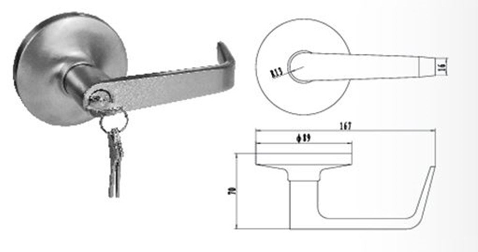Outside Trim for Panic Exit Device (DT-H102)