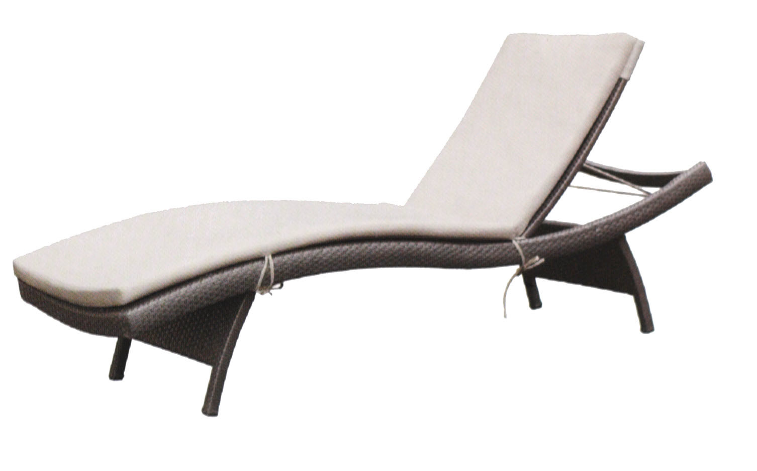 rattan lounger sun bed beach chaise ajustable leisure. Black Bedroom Furniture Sets. Home Design Ideas