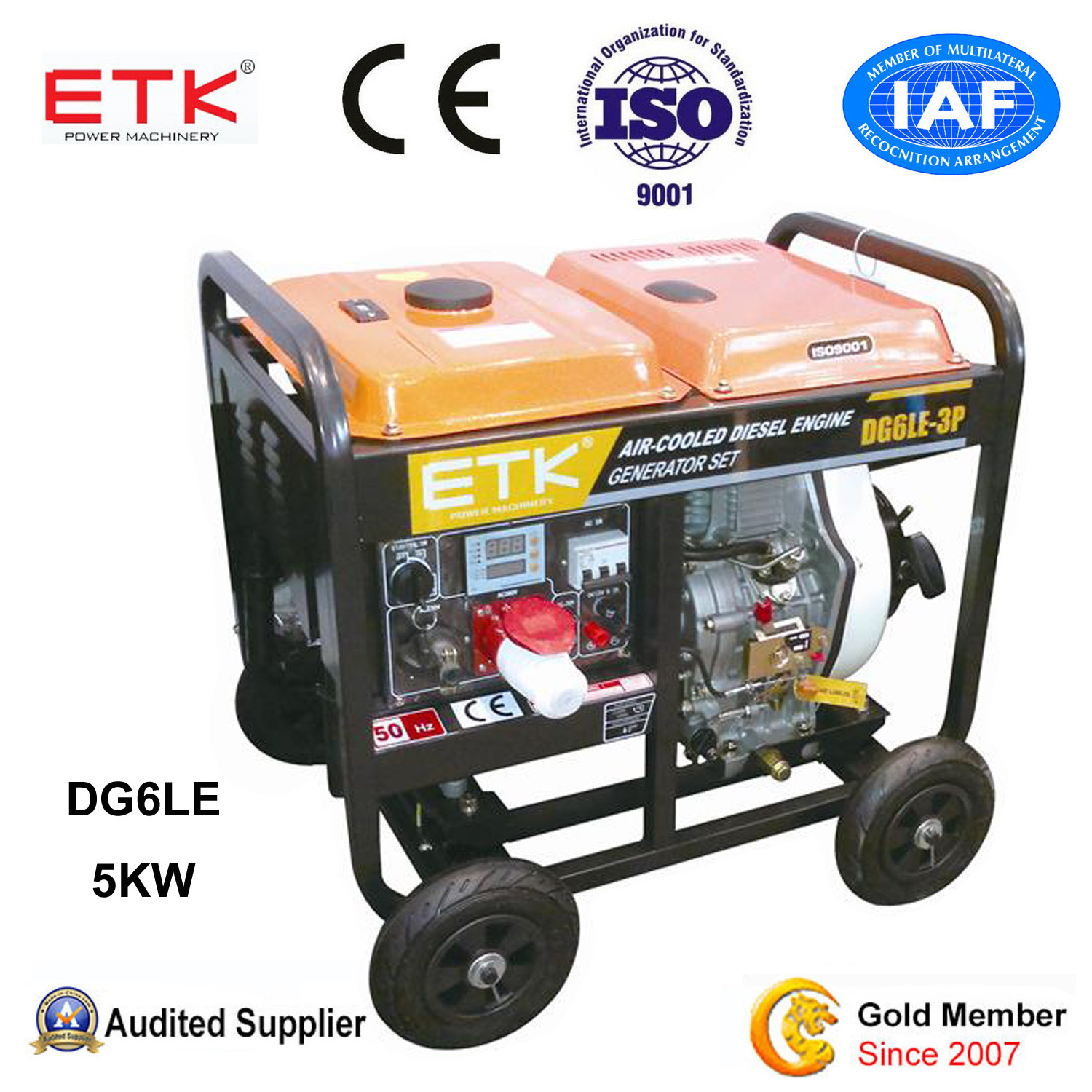 China Diesel Generator with Power Engine DG6LE 3P China Air