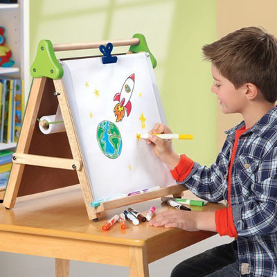 3-in-1 Kids Tabletop Drawing Easel, Drawing Board