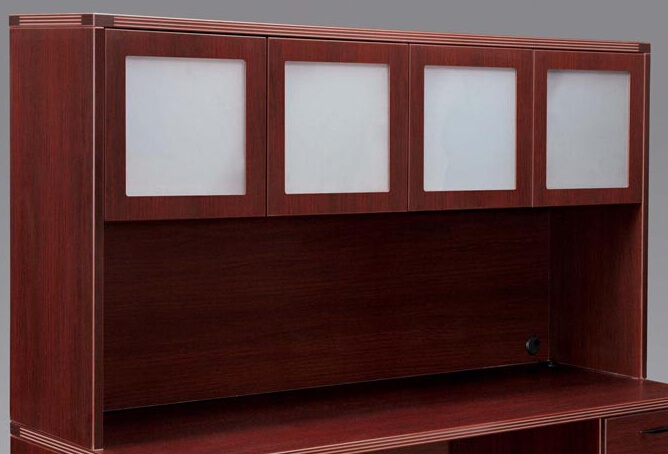 Modern High Quality MFC Board Office Furniture Hutch with Aluminum Glass Door