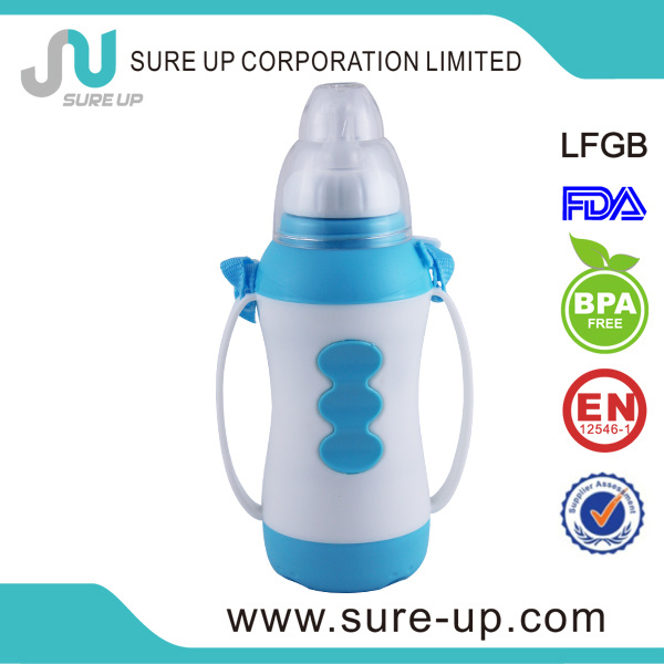 Plastic Glass Liner Water Drink Bottle for Kids