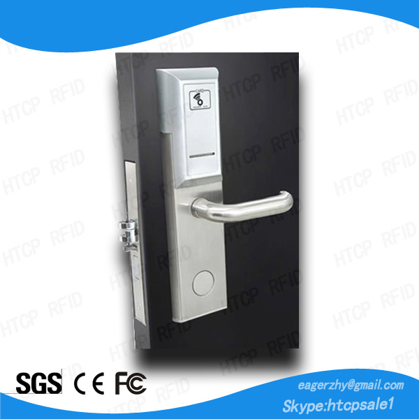 Real Time Monitoring Stainless Steel High Security Network Hotel Electronic Mortise Wireless Door Lock with Smart Card (L527-W)