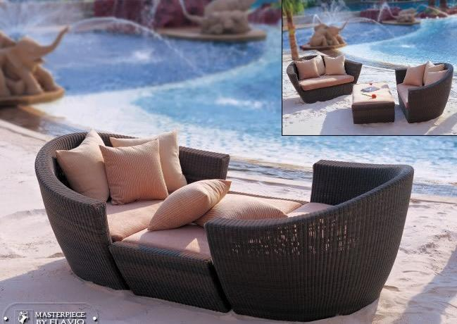 Mtc-276 Hotel Outdoor Rattan Wicker Leisure Chair and Sofa with Footstool