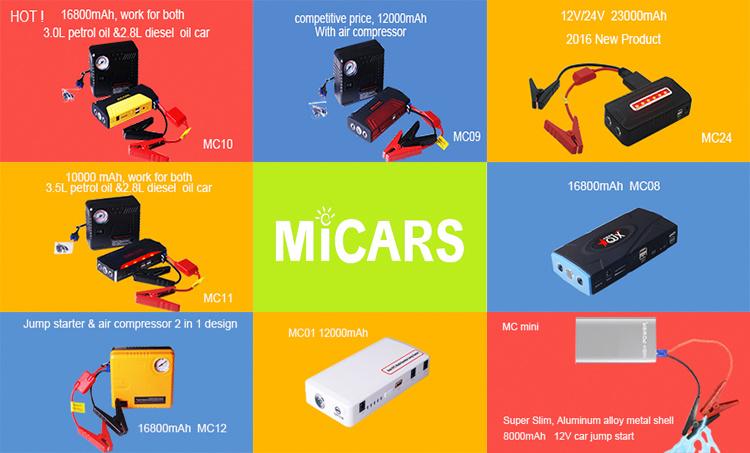 Good Quality Mini Car Jump Starter Power Bank 12000mAh Universal Car Jump Starter Power Bank