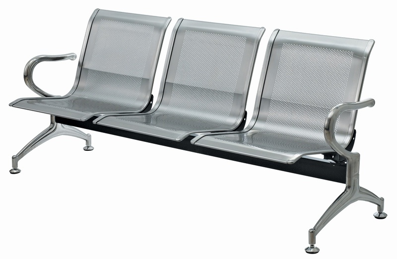 Stainless Steel Airport Seating with Cushion (WL500-03FS)