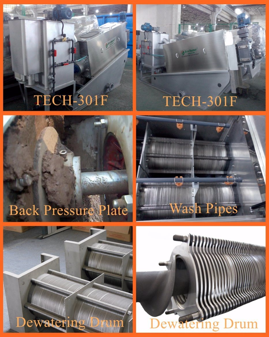 industrial Wastewater Treament Plant Sludge Dewatering Dehydrater