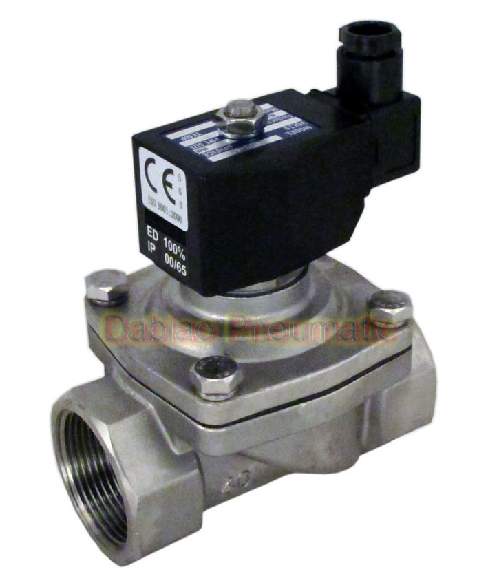 2s Series Stainless Steel Water Gas Solenoid Valve