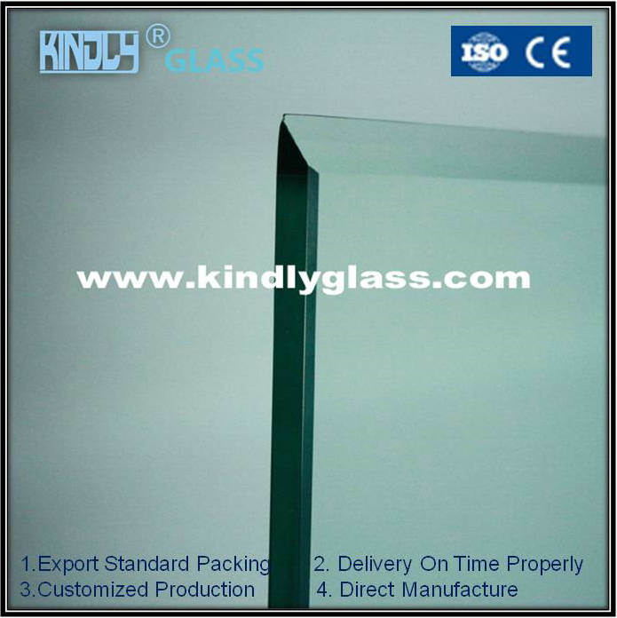 3.2-22mm Light Green Tempered Glass with CE