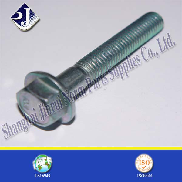 Alloy Steel Zinc Plated Flange Bolt for Automobile (DIN6921)