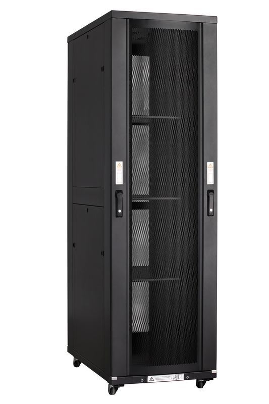 42u Server Rack with Arc Perforated Front Doors for Servers, Data Center Use