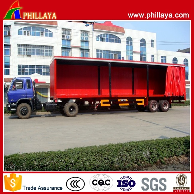 Bulk Light Cargo Transport Van Semi Curtain Side Trailer