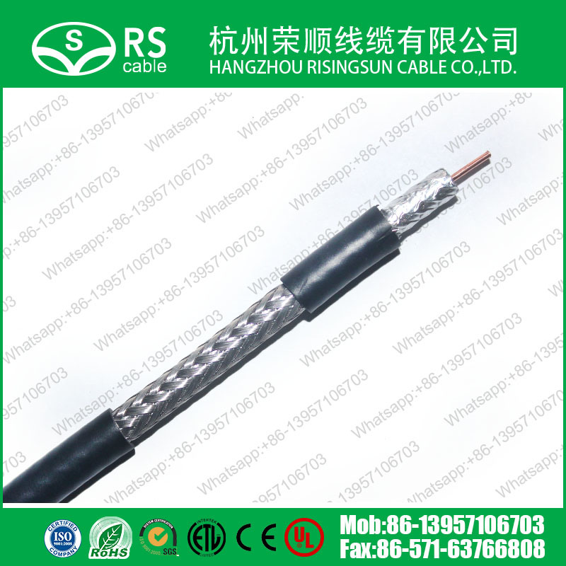 RG6/U Coaxial Cable 90% Coverage 3GHz Tested CATV Cable