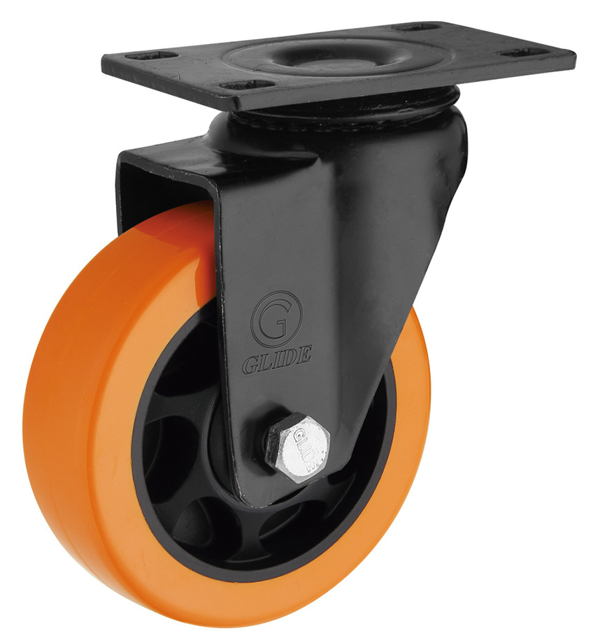 Medium Duty PU Caster Wheel (Orange) (G3206E)
