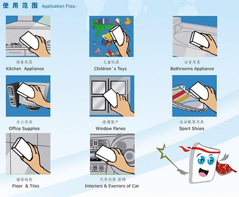 Magic Eraser Cleaning Foam Sponge Magic Sponge Foam China Sponge Manufacture Supplier