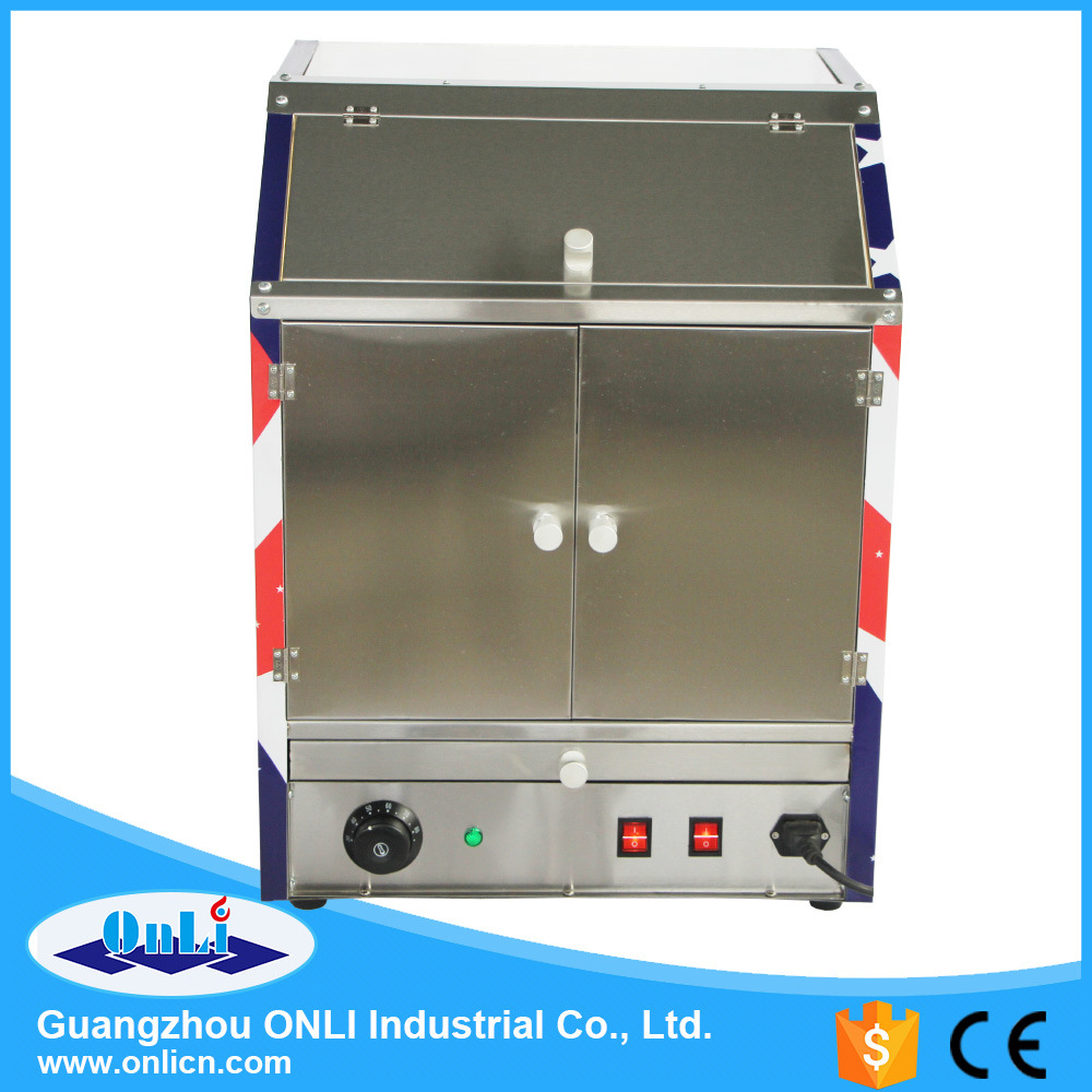 Commercial Hot Air Popcorn Warmer Showcase Machine - Two Food Area