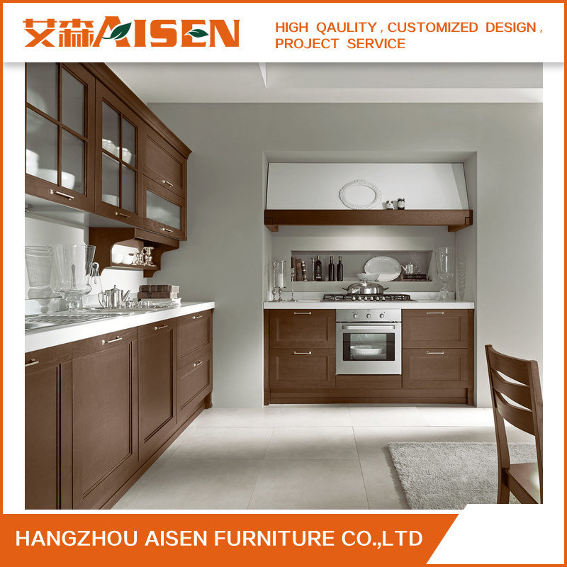 Shaker Door Style Kitchen Furniture Solid Wood Kitchen Cabinet