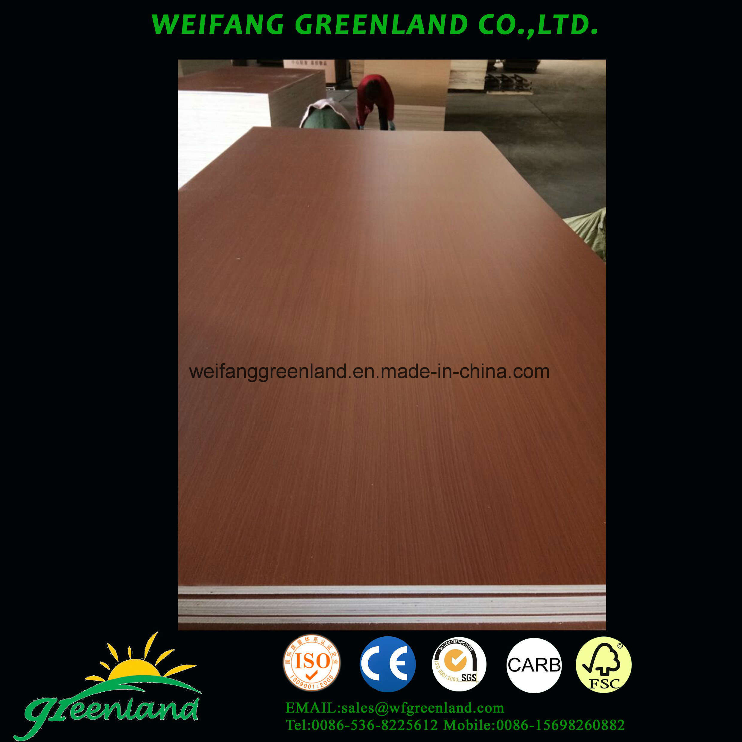 High Quality, Hardwood Core, Mr Glue PVC Plywood for Cabinet