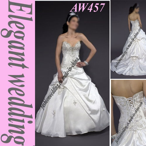Taffeta Romantic Wedding Gown AW457