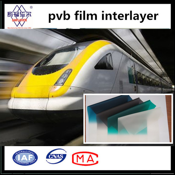 0.76mm Vehicle Windshield Glass Green Band/ Blue Band/ Clear PVB