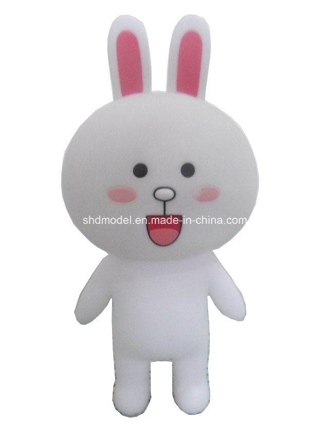 PVC Vinyl White Rabbit Baby Toy (10 cm)