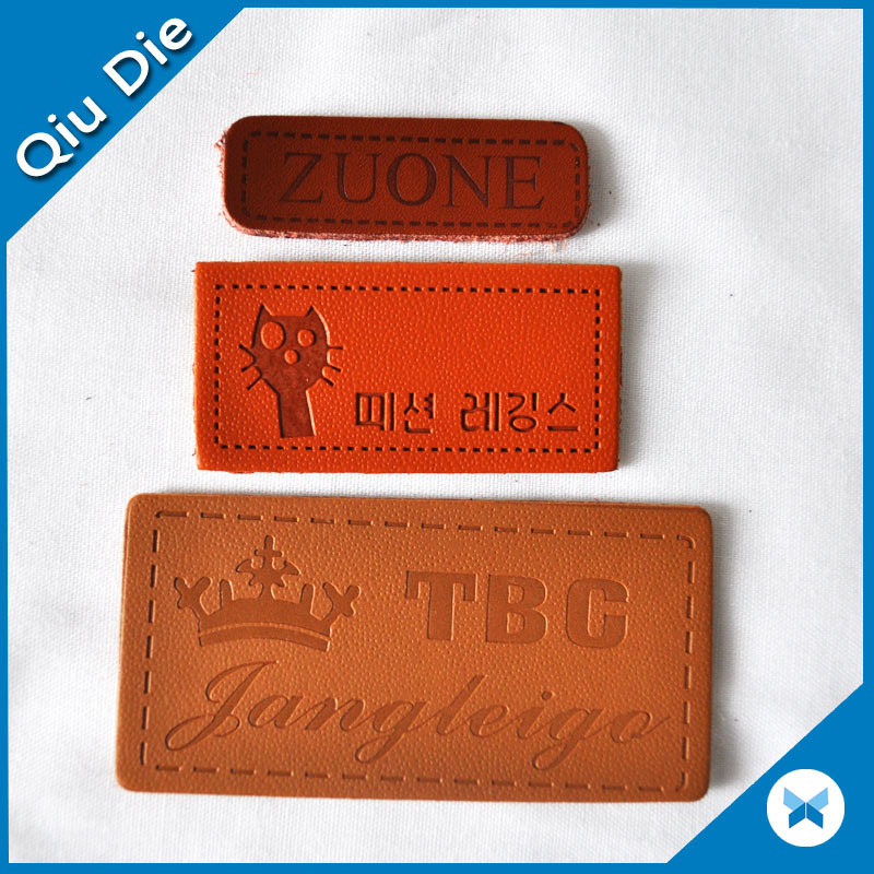 Customized Printed/Embossed Leather Badge for Clothing