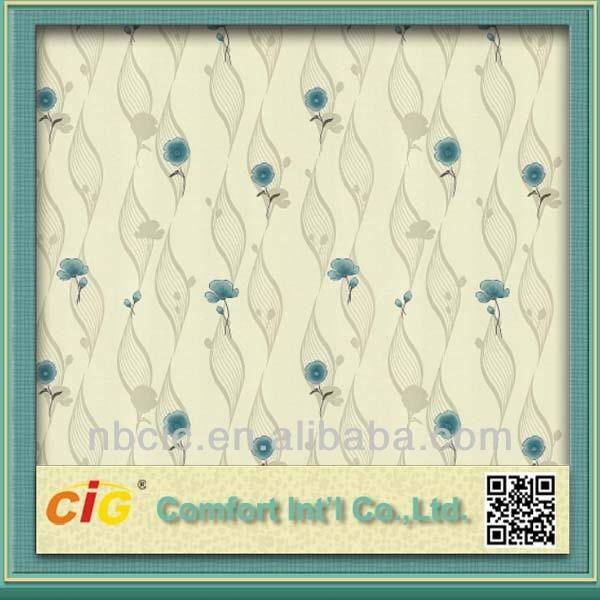 Blue Flower Patter Wallpaper