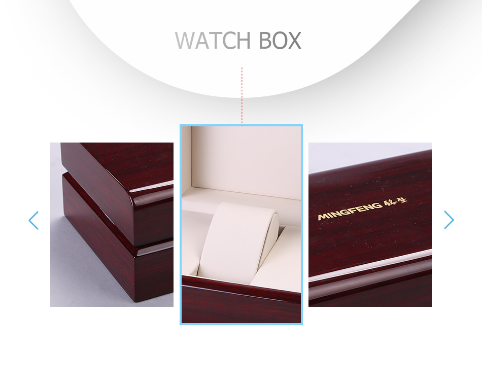 Eco Durable Luxury Biomass High-Glossy Bamboo-Plastic Watch Gift Box