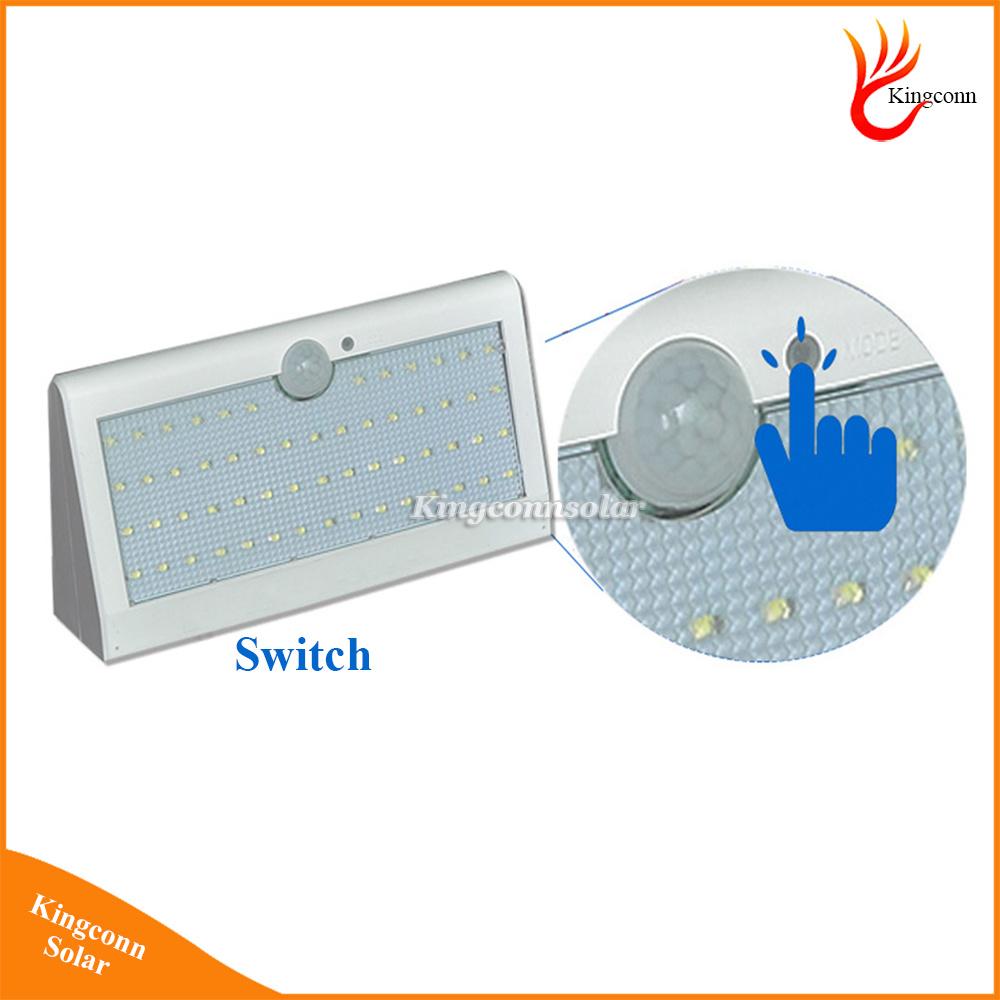 New Solar Light 57LED Solar Outdoor Lamp Waterproof PIR Motion Sensor Solar Lamp for Garden Decoration