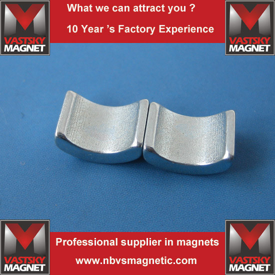 N35sh Uh High Temperature Custom NdFeB Arc Segment Magnet