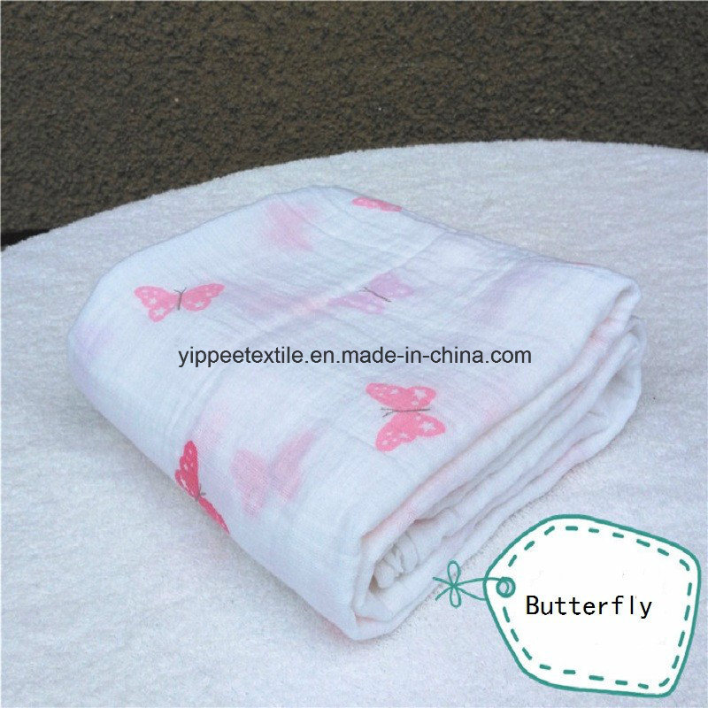 Super Soft &Smooth 70%Bamboo 30%Cotton Muslin Wrap Swaddle