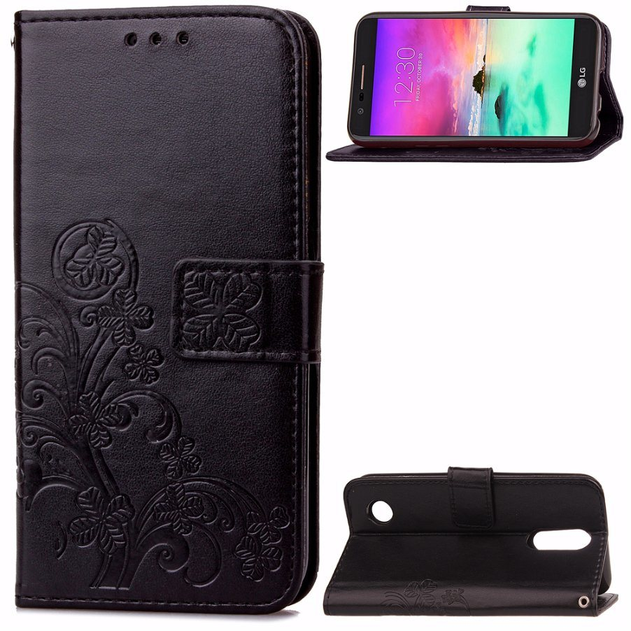 Leather Wallet Flip Mobile Phone Cases for LG K4 2017