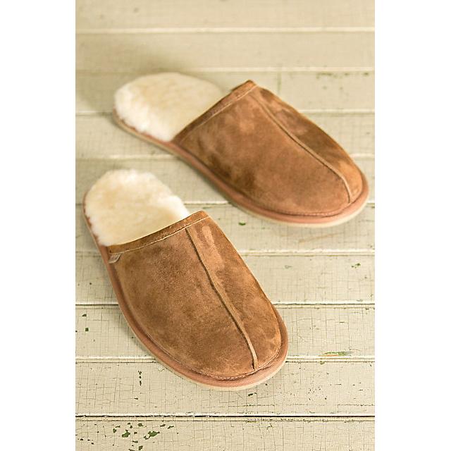 Men′s Sheepskin Scuff Sheepskin Slippers