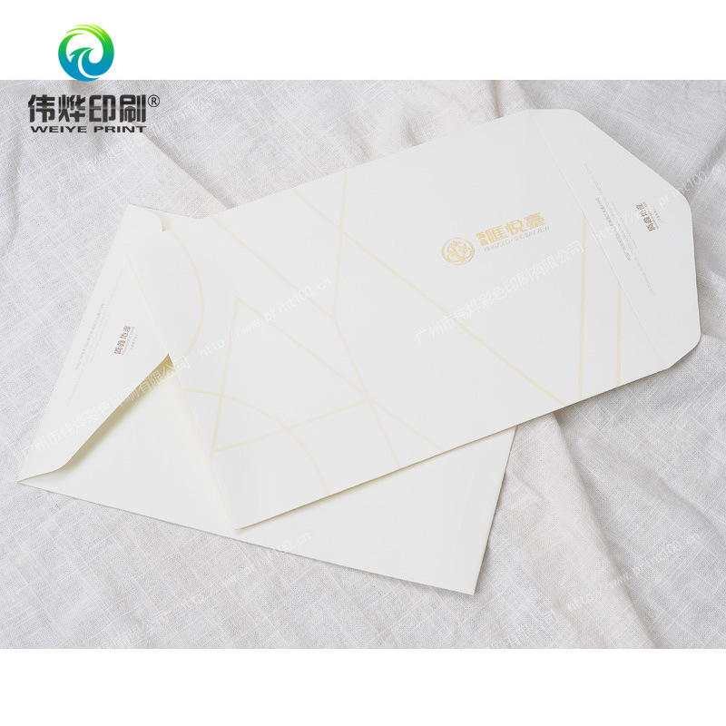 2017 Deluxe Gold Stamping Promotional Printing Envelopes / Stationery
