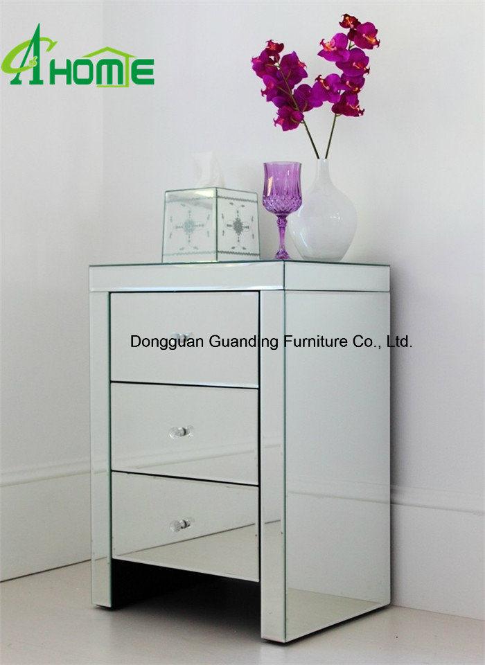 2016 Bedroom Furniture Mirrored Nightstand